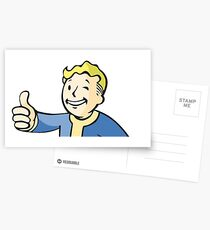Fallout 76 sticker Postcards