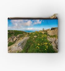 Dandelions among the rocks in Carpathian Alps Studio Pouch