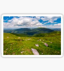 Carpathian alps with huge boulders on hillsides Sticker