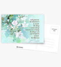 Serenity Prayer Blackberry Blossoms  Postcards
