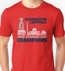Washington Capitals 2018 Stanley Cup Champions Roster in City Skyline Unisex T-Shirt