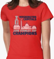 Washington Capitals 2018 Stanley Cup Champions Roster in City Skyline  Women s Fitted T-Shirt 0226c2a6d