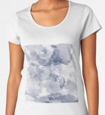 BLUE WATERCOLOR #minimal #marble #design #kirovair #decor #buyart #blue #design #elements Women's Premium T-Shirt