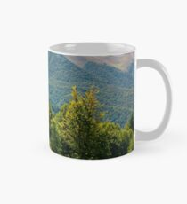 forested hills of Carpathian mountains in summer Mug