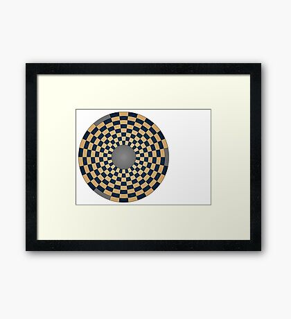 Revised circular board Framed Print