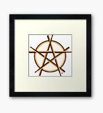 Pagan Drummer Framed Print