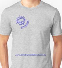 Echidna Walkabout logo blue horizontal text Unisex T-Shirt