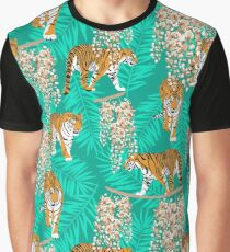 Siberian tiger. Mint pattern Graphic T-Shirt