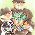 Three Farmers by lynzart
