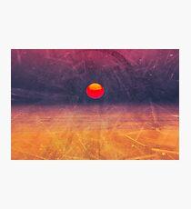 purple digital sunrise background Photographic Print