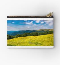 gorgeous weather over grassy slopes of Carpathians Studio Pouch