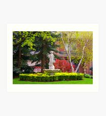 A Front Yard in Spring...... Art Print