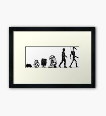 Droids Evolution T Shirt, Robots Freaky Geeky Gift Ideas Framed Print