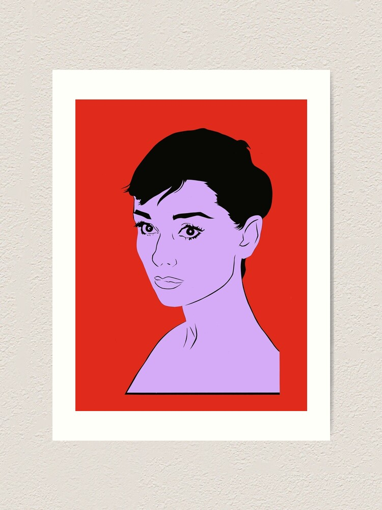 Alternate view of Audrey Hepburn Art Print