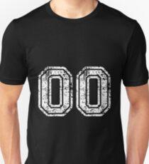 Sport Team Jersey 00 T Shirt Football Soccer Baseball Hockey Double Basketball Double Zero  Unisex T-Shirt