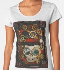 Steampunk Goggle Skull Women's Premium T-Shirt
