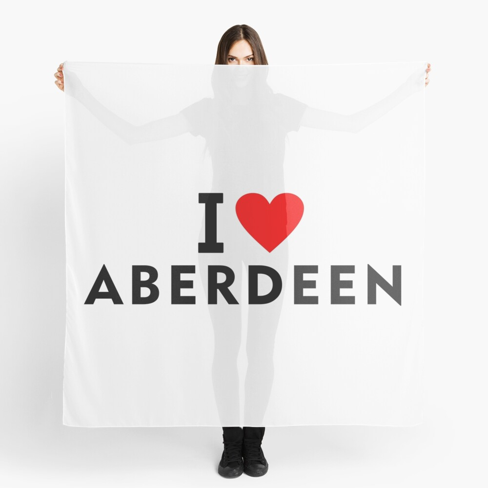 I love Aberdeen city Scarf