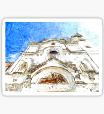 Pizzo: facade of the cathedral Sticker