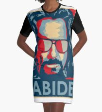 The Dude Abides T Shirt, Abide, Yes We Can Obama Parody Original Design Graphic T-Shirt Dress