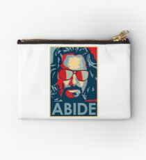 The Dude Abides T Shirt, Abide, Yes We Can Obama Parody Original Design Studio Pouch