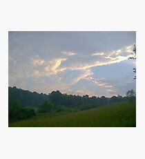 Silver Sky Photographic Print