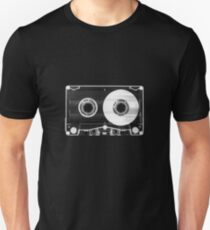 Black and White Retro 80's Cassette -  Vintage Eighties Technology Art Print Wall Decor from 1980's  Unisex T-Shirt
