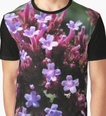 Tiny Purple Flowers Graphic T-Shirt