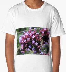 Tiny Purple Flowers Long T-Shirt