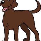 Happy Go Lucky Chocolate Labrador by rmcbuckeye