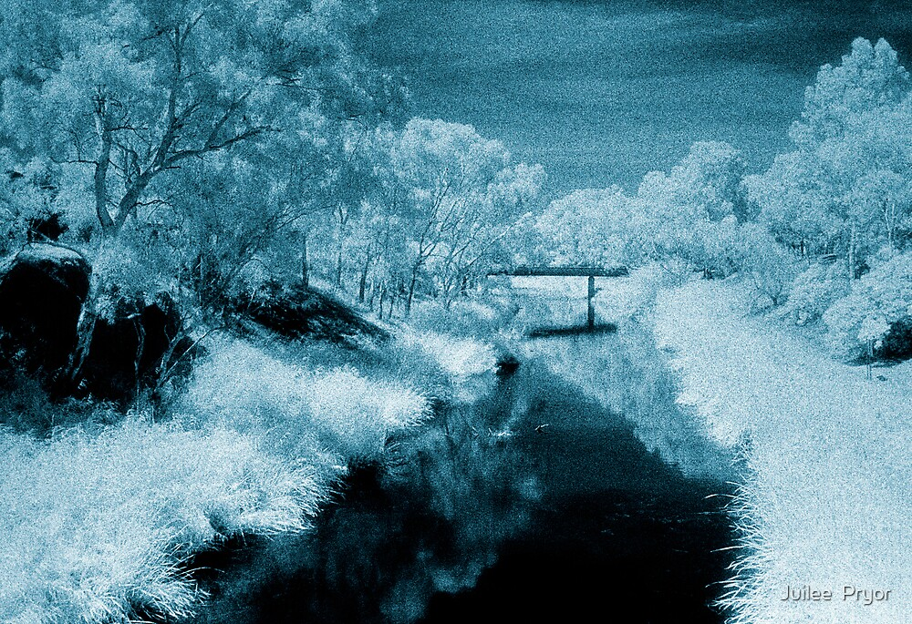 blue day.... bridge over the river styx by Juilee  Pryor