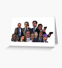 Michael Scott Collage Greeting Card