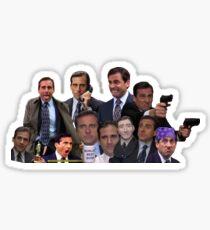 Michael Scott Collage Sticker