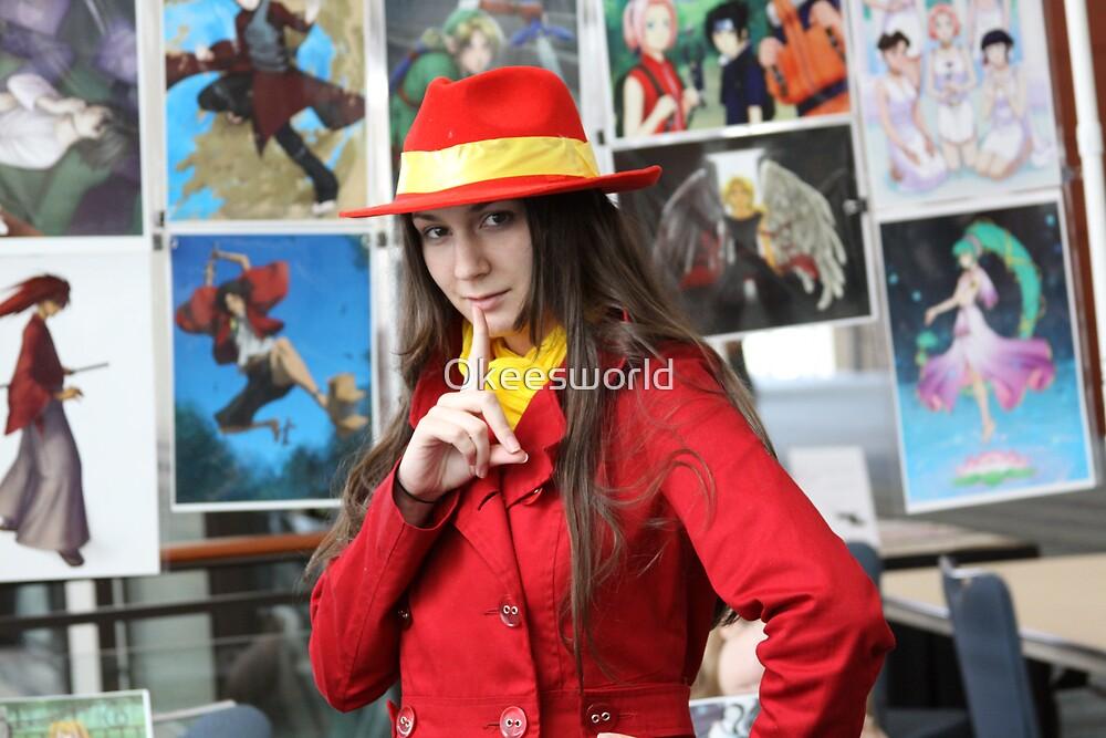 I found Carmen Sandiego Close-up by Okeesworld