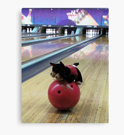 RnR Bowling w Zac ... having a go Canvas Print