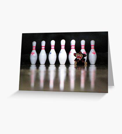 RnR Bowling w Zac ... strike or spare? Greeting Card