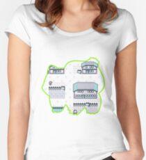Grass Pallet Town Women's Fitted Scoop T-Shirt