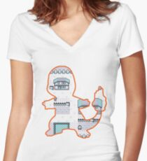 Fire Pallet Town Women's Fitted V-Neck T-Shirt