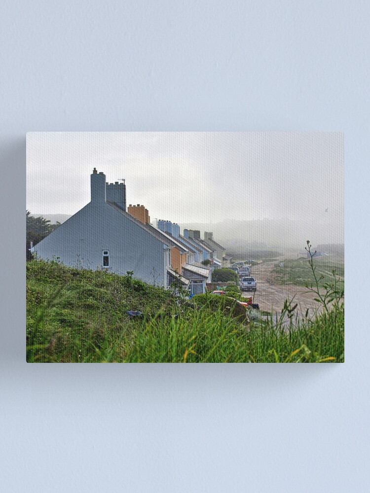 Alternate view of Heavy Fog Rolls in - Alderney Canvas Print