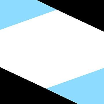6 Sides Blue by GeometricStuff1