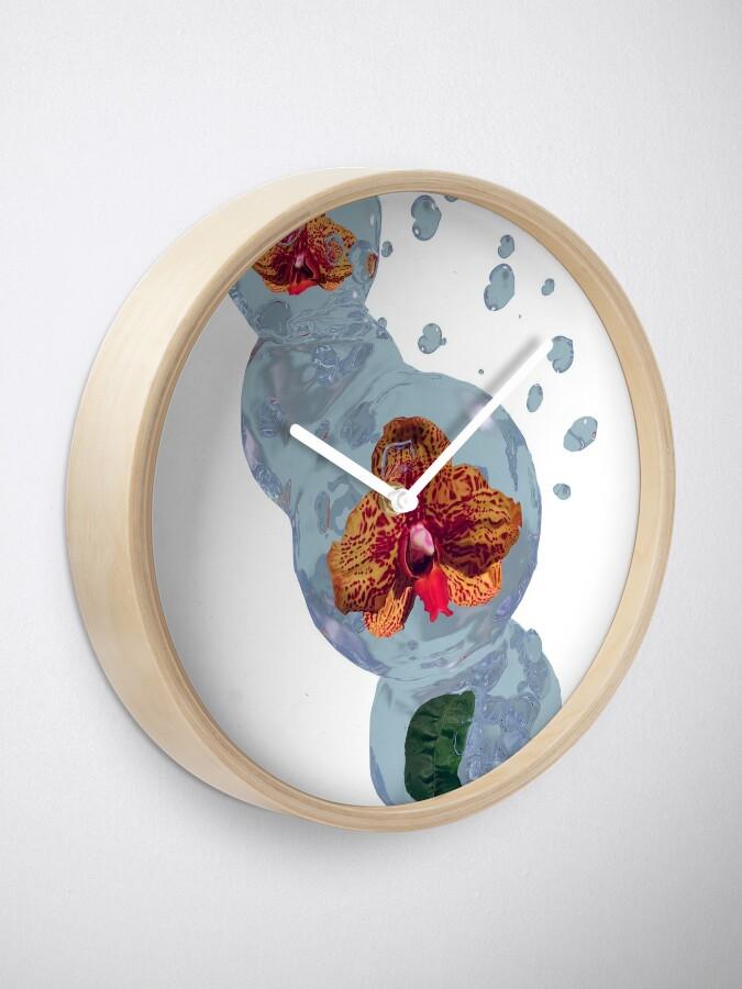Alternative Ansicht von Wasser Orchidee Uhr