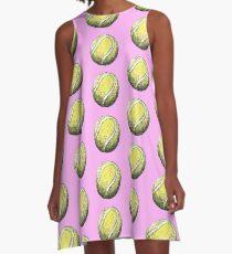 Tennis Ball Pattern - Pink A-Line Dress