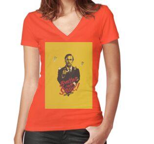 T-shirt col V femme