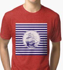Marine - ship Tri-blend T-Shirt