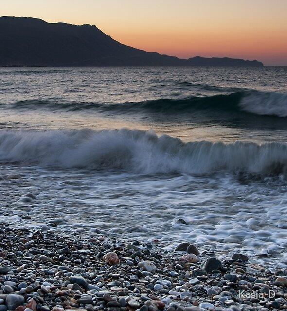 Kissamos Sunset on the Rocks by Kasia-D