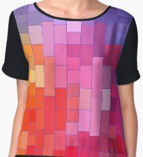 Rainbow Bricks Chiffon Top