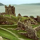 Urquhart Castle C13-17 keep, with Loch Ness in Background to north, Scotland 19840910 0010 by Fred Mitchell