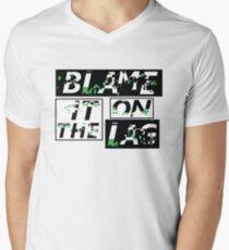 Blame it on the lag Men's V-Neck T-Shirt