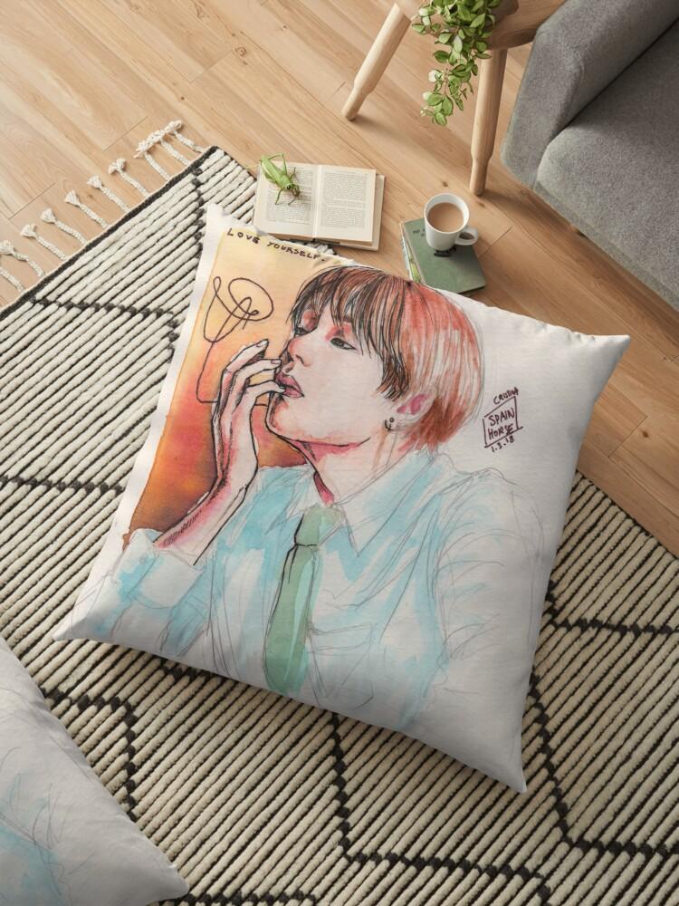 Watercolor love yourself floor pillows by spainhorse redbubble watercolor love yourself by spainhorse solutioingenieria Gallery