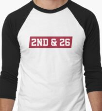 2nd And 26 - Red Men's Baseball ¾ T-Shirt