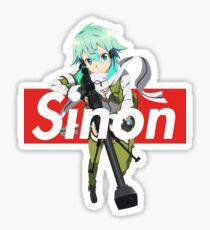 Supreme Box Logo Sword Art Online Sinon Asada Shino Sticker